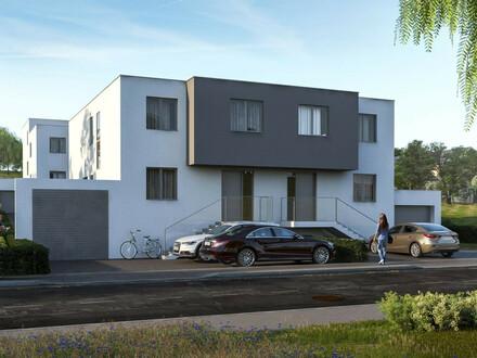 SCHLÜSSELFERTIGE Doppelhaushälfte mit Keller, Garage, Garten und Terrasse - Massivbau/Niedrigenergie- Förderung möglich