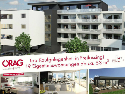 Provisionsfrei: Erstbezug, Neubau M7 - moderne 2-Zimmer-Wohnung, in 83395 Freilassing - zum Kauf