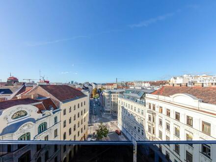 Design-Dachgeschoß! 3-Zimmer-Maisonette mit Weitblick-Terrasse in generalsanierter Liegenschaft