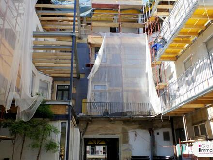 Nähe Naschmarkt - Hochwertige Altbauwohnung mit Balkon in revitalisiertem Biedermeierhaus