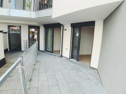 ++VIDEOBESICHTIGUNG++ Optimal geschnittene 3-Zimmer EG-Neubauwohnung mit Terrasse in Citylage!