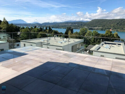 Velden - Wörthersee/AUEN: AB SOFORT zu mieten: Erstbezug-Penthouse mit gigantischem See- und Bergblick, Außenpool und eigener…