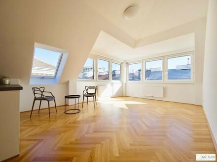 Bestlage beim Augarten! Sonnige 3-Zimmer-Erstbezug-Dachgeschoss-Wohnung mit optionaler Garage