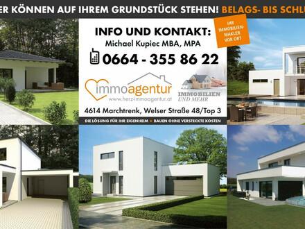 Erschwingliches, maßgeschneidertes Baumeisterhaus plus Grundstück in Marchtrenk, Ziegelmassiv, Topausstattung, belagsfertig++