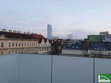 KOFFER PACKEN UND EINZIEHEN - Blick auf DC-Tower und Kahlenberg in einer Maisonettewohnung im Dachgeschoss mit drei Freiflächen!