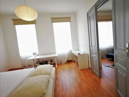 WU - 1020 Wien: Möblierte 2 Zimmer mit separater Küche - ab sofort zur unbefristeten Vermietung ! KEIN LIFT !