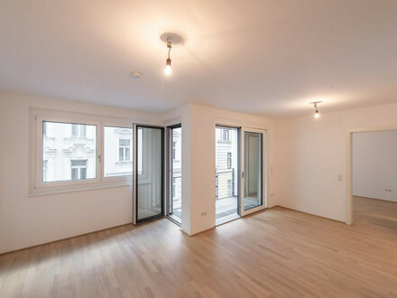 Six in the City: Premium Neubau-Apartment, BESTLAGE, 2-Zimmer mit Loggia! ++RUHELAGE++