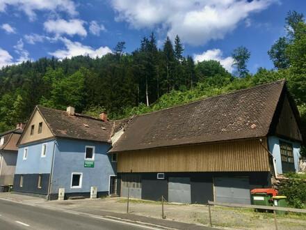 Wohnhaus in Leoben mit Nebengebäude samt Werkstatt, Garage und Lager zu kaufen!