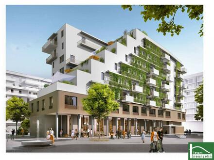 Neubauprojekt mit Schwimmbiotop, einem Biosupermarkt sowie einer Traumdachterrasse mit Seeblick! Sehr nahe der U2 Seestadt!