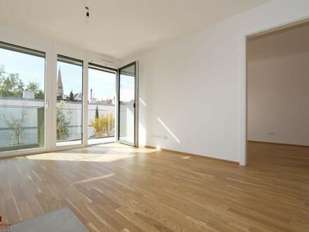 LUXUS-ERSTBEZUG, 2 Zimmer, West-Balkon, Pauschale allinklusiv Miete, Maßeinbau-Küche, zugfreie Deckenkühlung, FBH, Alarmanlage,…