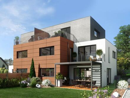 Exklusive Doppelhaus-Hälfte mit großzügigem Garten in herrlicher Ruhelage, gute Infrastruktur