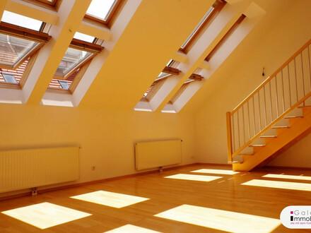 Unbefristete sonnige 3-Zimmer-DG-Maisonette mit 2 Terrassen - Weitblick