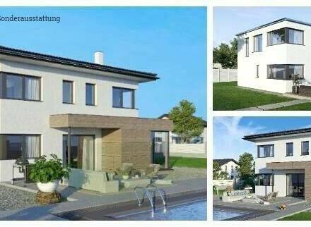 Lipizach/Randlage Klagenfurt - Schönes ELK-Design-Haus und Grundstück in leichter Hanglage (Wohnfläche - 130m² & 148m² &…