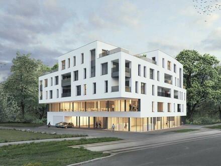 Neubauprojekt - Am Schlosspark Traun - Flexible Geschäfts-/Büroeinheiten zum Kaufen (zB Geschäftslokal mit 172,39m²)