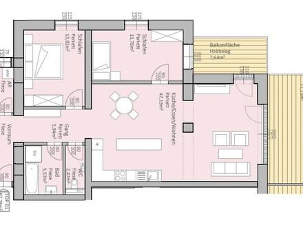 Großzügige, neue Gartenwohnung am Klopeiner See mit 98 m² Wohnfläche und 25 m² Terrasse, TOP 1, EG