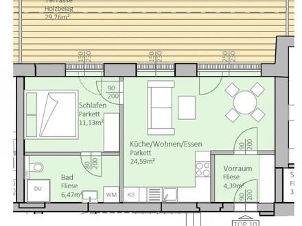 Wunderschöne, neue Seeblick-Wohnung mit 47 m² Wohnfläche und 30 m² Terrasse am Klopeiner See, Top 10, 2.OG