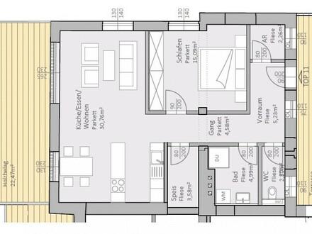 Lichtdurchflutete, neue Seeblick-Wohnung mit 69 m² Wohnfläche und 36 m² Terrasse am Klopeiner See, Top 11, 2.OG