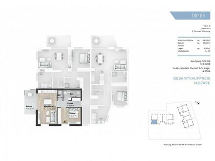 VORSORGE: Traumhafte 2- Zimmer Wohnung am Koinegghügel
