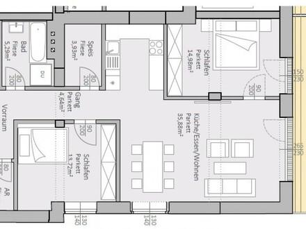 Wunderschöne, neue Gartenwohnung am Klopeiner See mit 89 m² Wohnfläche und 24 m² Terrasse, TOP 3, EG