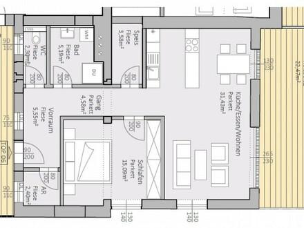 Charmante, neue Seeblick-Wohnung mit 70 m² Wohnfläche und 36 m² Terrasse am Klopeiner See, TOP 6, 1. OG