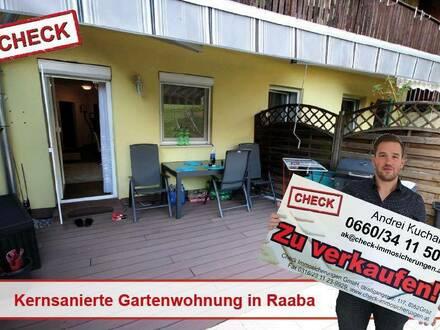 Raaba! Kernsanierte 2-Zimmer Wohnung mit großer Terrasse und Garten