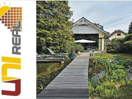 - UNI-Real - Stilvolle Villa in herrlicher Lage mit spektakulären Garten inkl. Schwimmteich