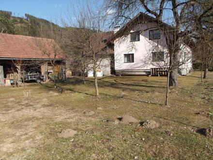 Griffen: Einfamilienhaus mit Scheune und traumhaftem Obstgarten!