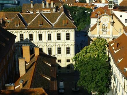 Wohnen im Zentrum ,100 Meter neben der Herrengasse, neuwertig mit Klima und Blick in den Himmel !!!
