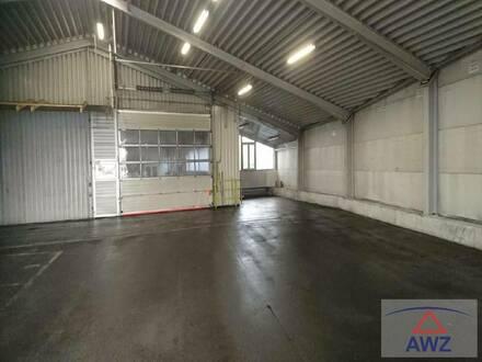 Lager- und Produktionshallen mit Büro und Wohnungen