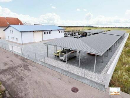 Gewerbehalle mit Nebenräumen und Lager