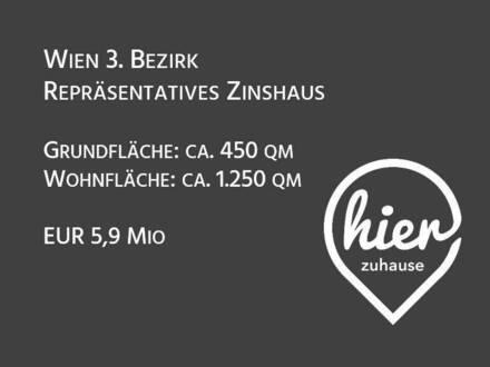 Wien 3. Bezirk: Repräsentatives Zinshaus mit Ausbaupotenzial