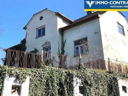 Stilvolle Villa mit Garten, in sonniger erhöhter Dorflage - Sehr sanierungsbedürftig!