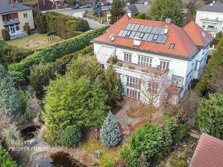 SENSATION! Imposante 13-Zimmer Villa mit Naturschwimmteich in Hadersdorf