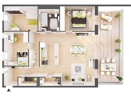 Provisionsfreie 4-Zimmer Neubau-Wohnung mit Terrasse (BW10)