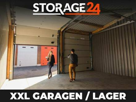 Storage24 vermietet XXL Garagen, Hallen und Lagerräume als Arbeits- und Lagerfläche in verschiedenen Größen.