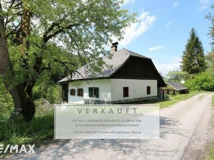 idyllisch gelegenes, kleines Haus Nähe Feistritz/Drau