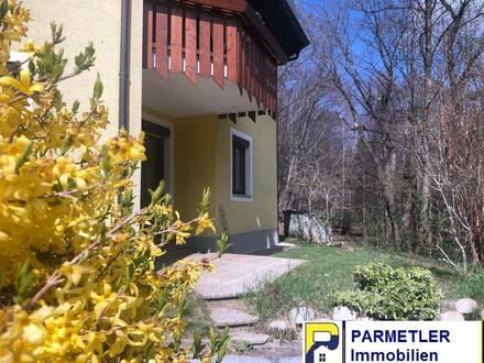 Barrierefreie Wohnung mit Terrasse, Garten und Waldblick