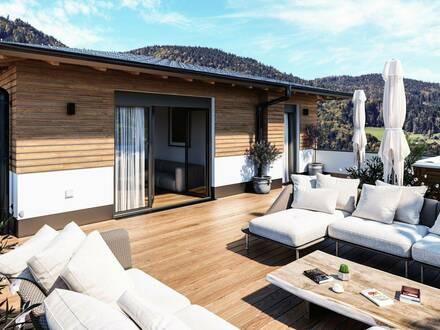 LUXUS PUR - Penthouse Mondsee mit ca. Wfl. 135 m² zzgl. 125 m² Dachterrasse, Lift in die Wohnung - PROVISIONSFREI - TIE…
