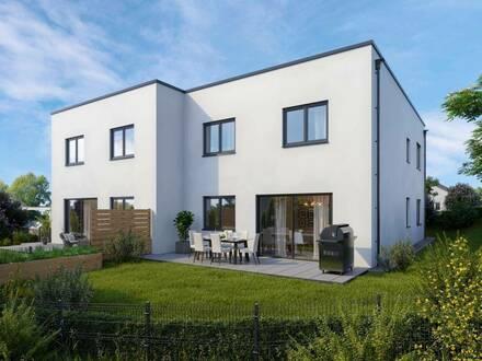 Schlüsselfertige Doppelhaushälften mit Doppel-Carport im Zentrum von Hörsching