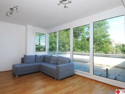 SOFORT VERFÜGBAR!! Himberg - 3 Zimmer Mietwohnung mit großer uneinsichtigen Terrasse und Grünblick