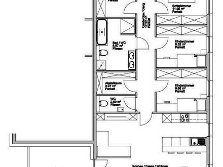 Sonnige 5-6 Zimmerwohnung mit Westterrasse