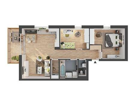 Provisionsfreie hochwertige 3-Zimmer Dachgeschosswohnung (CW06)