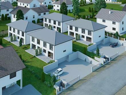 Doppelhaushälfte - Holzriegelbau - Wohnpark Großmugl - belagsfertig