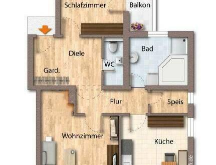 Zentrumsnahme, sehr ruhige Wohnung in Westendorf zu mieten