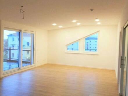 Erstbezugsbüro mit Kühlung und 17m² Terrasse + Abstellplatz, gute Verkehrsanbindung, 3 Zimmer, ruhig + hell