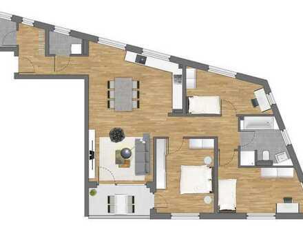 Moderne und großzügige 4-Zimmer-Wohnung mit sonniger Terrasse inmitten von Grün