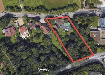 Alleinauftrag Tübingen!Großes Grundstück mit 2 Bestandsbauten und Potential mit sep. Baugenehmigung!