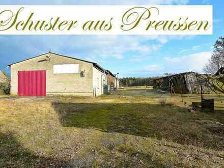 Schuster aus Preussen - Lagerräume / Hallen / Garagen mit Arbeits - und Wohnmöglichkeit mit ca. 5...