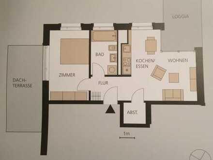 2-Zimmer-Wohnung (Erstbezug) mit Balkon und Dachterrasse in Freiburg im Breisgau