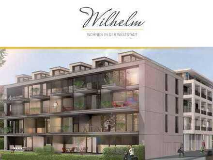 Erstbezug: attraktive 2-Zimmer-Wohnung mit Einbauküche und Balkon